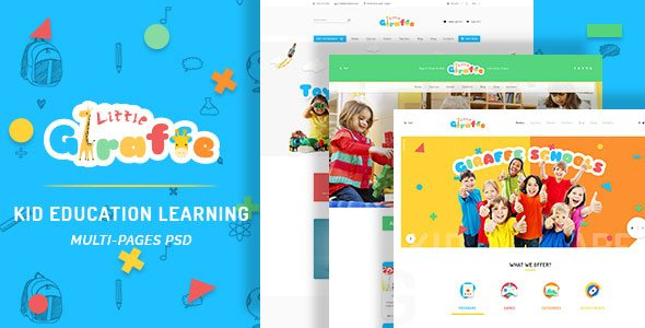 Giraffe - Kid Education Learning PSD Template
