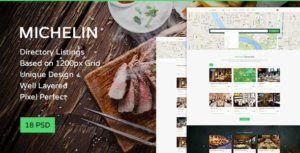Michelin - Multipurpose Directory Listing PSD Template