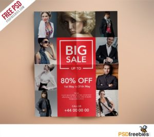 Creative Fashion Retail Sales Flyers Free PSD Template