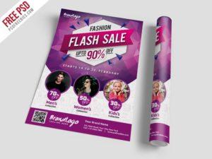 Creative Fashion Sale Flyer Template Free PSD