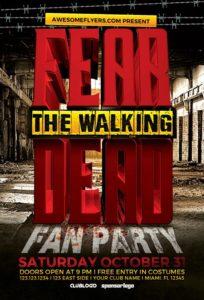 Fear The Walking Dead Party Flyer Template