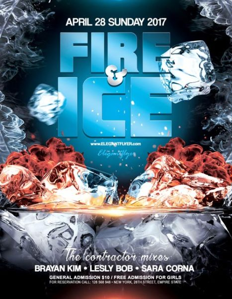 Fire and Ice Party Event PSD Flyer Template