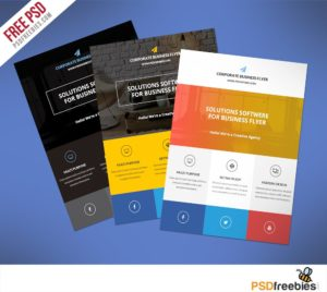 Creative Flat Clean Corporate Business Flyer Free PSD