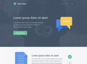 Creative Flat Mate ‰ÛÒ Single page template