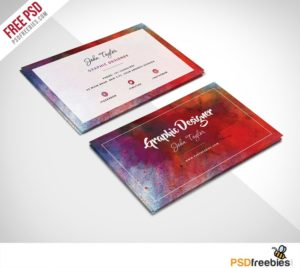 Creative Free Abstract Business Card PSD Template