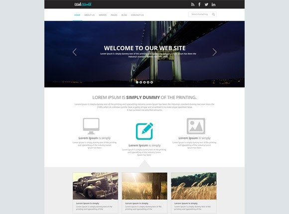 Creative WebWorld ‰ÛÒ PSD website template