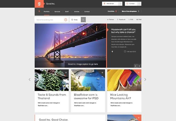 Creative GoodInc PSD template