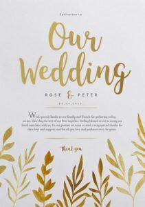 Free Watercolor Wedding Flyer Template