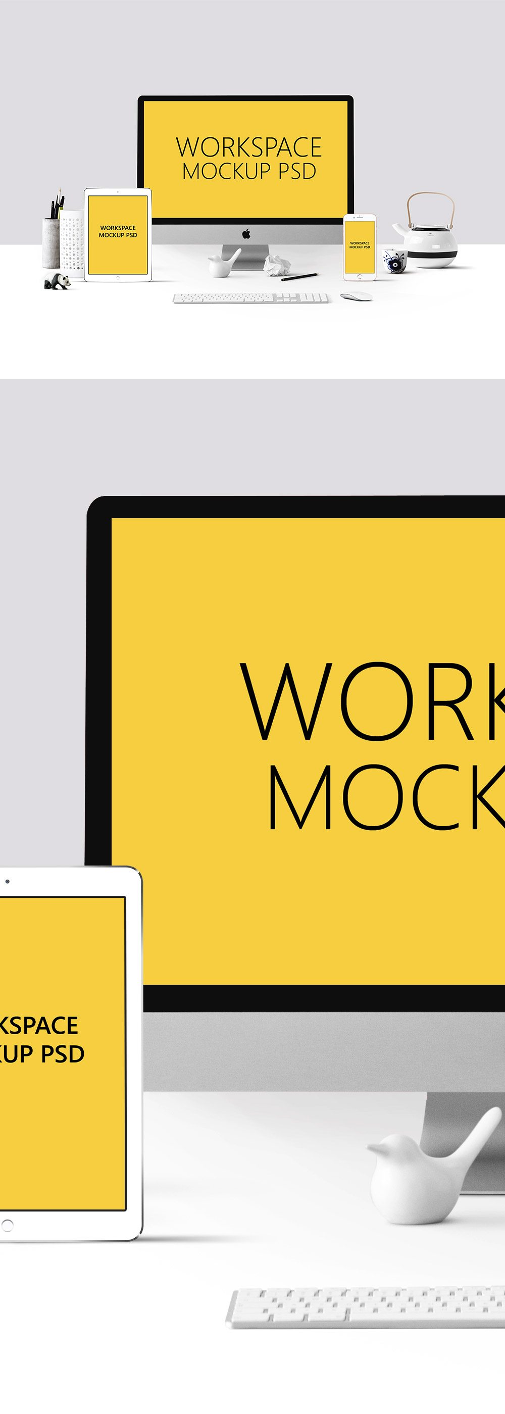 Creative Workspace Mockup PSD