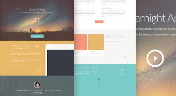 Creative Starnight ‰ÛÒ PSD website template