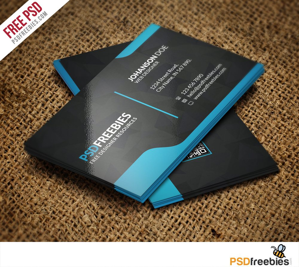 Creative Graphic Designer Business Card Template Free PSD