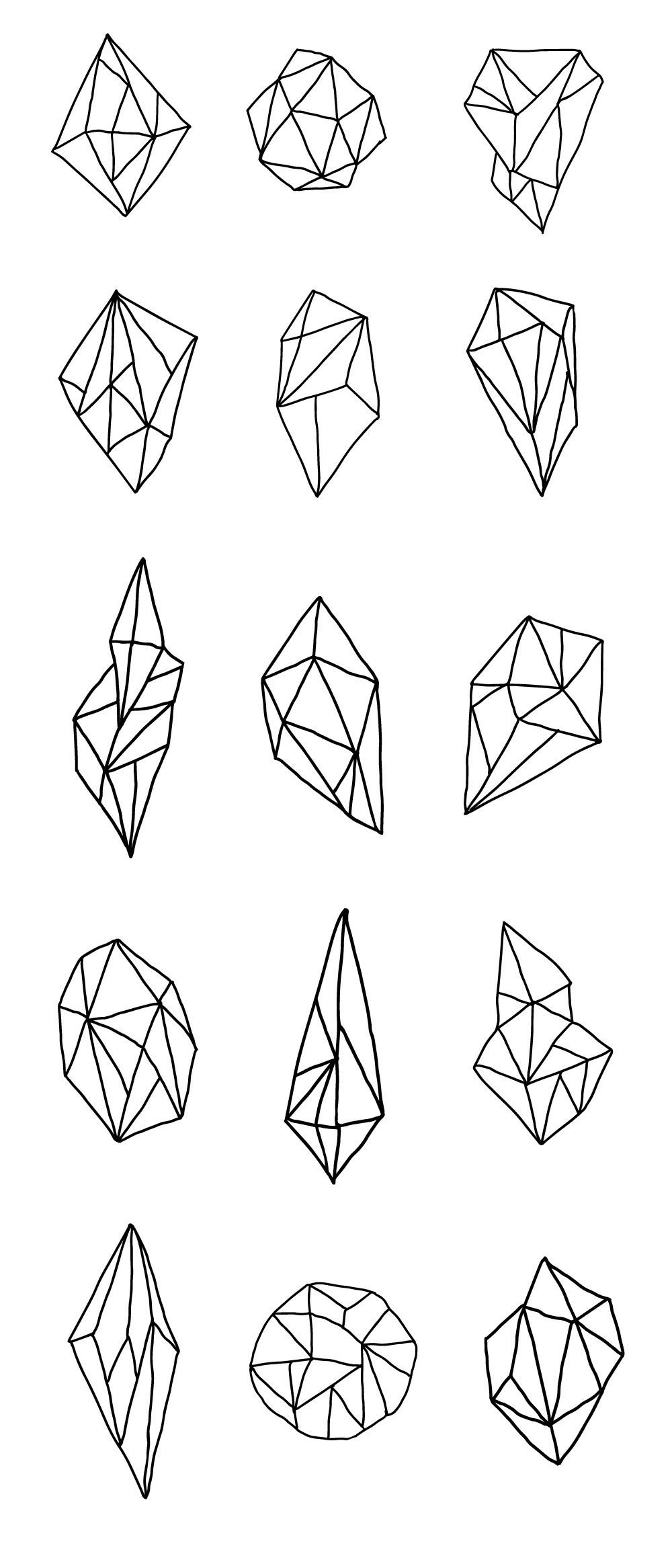 Creative Free Hand-drawn Vector Geometric Polygons
