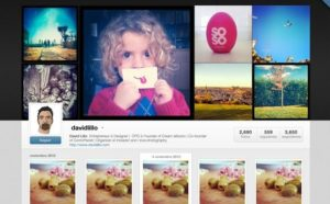 Creative Instagram Web Profiles GUI PSD