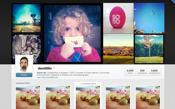 Creative Instagram Web Profiles GUI PSD