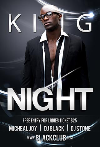 Free King Night PSD Flyer Template