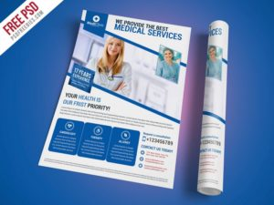 Creative Medical Services Flyer Template Free PSD