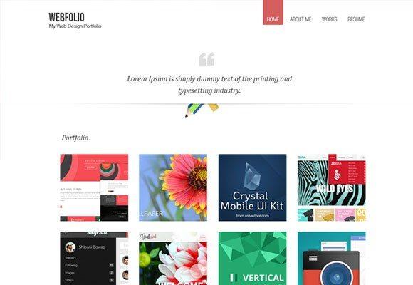 Creative Minimal Portfolio Template PSD