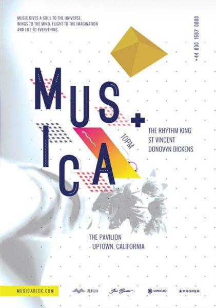 Musica Pavilion Free PSD Flyer Template