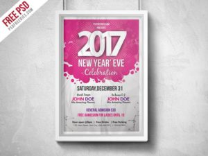 Creative New Year Eve Party Flyer PSD