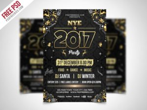 Creative New Year Party Flyer PSD Template