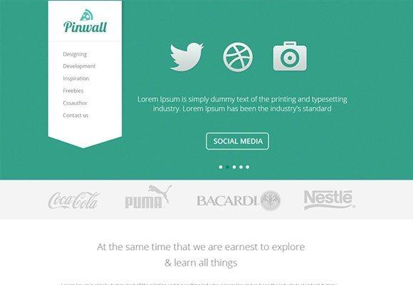 Creative Pinwall ‰ÛÒ Modern Website Template