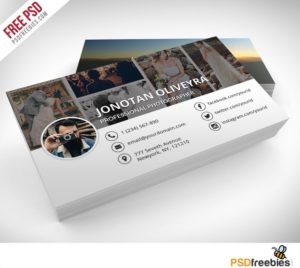 Creative Professional Photographer Business Card PSD Template Freebie