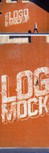 Creative Street Wall Logo Mockup PSD