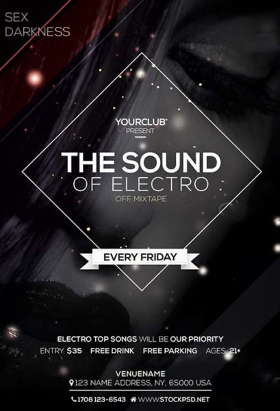 Electro Sound Free PSD Flyer Template