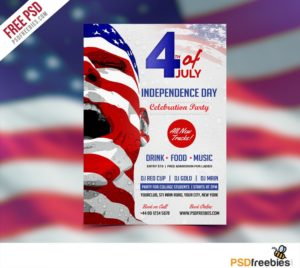 Creative USA Independence Day Flyer Template Free PSD