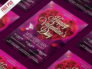 Creative Valentines Day Flyer PSD Template
