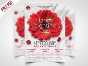 Creative Valentines Day Flyer Template Free PSD