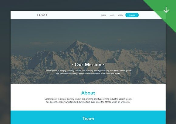 Creative Clean web template PSD