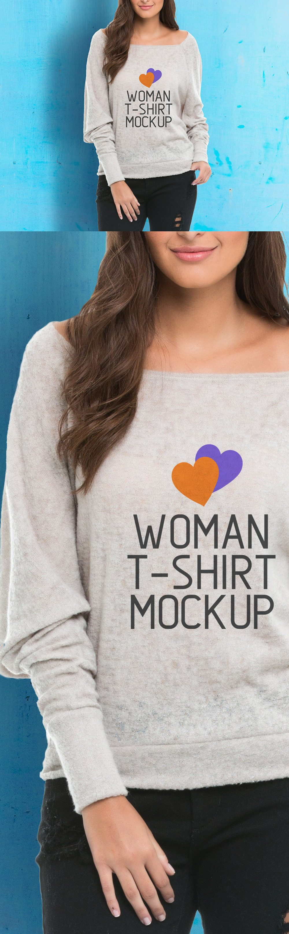Creative Woman T-Shirt Mockup
