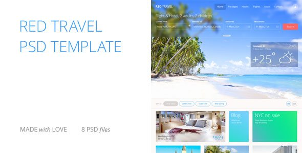 Red Travel - Themeforest Premium PSD Template
