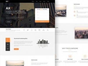 Creative Axit ‰ÛÒ PSD Landing page