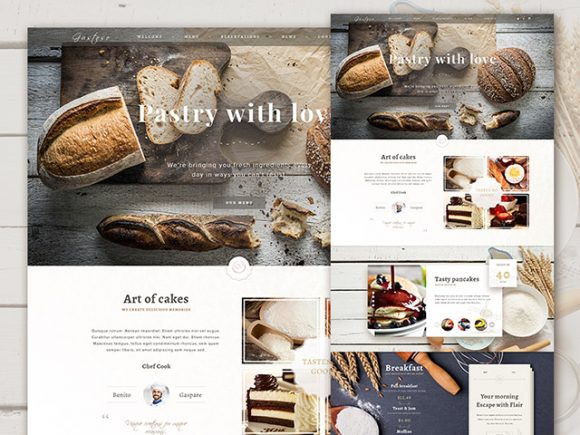 Creative Bakery PSD website template