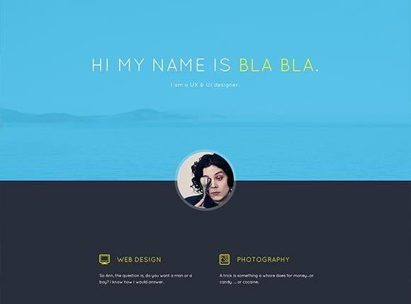 Creative Bla Bla‰Ûªs Portfolio ‰ÛÒ PSD template