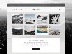 Creative Black & white ‰ÛÒ Free PSD template