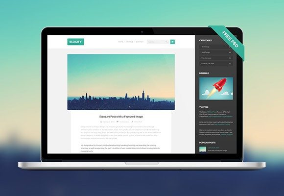 Creative Blogify PSD template