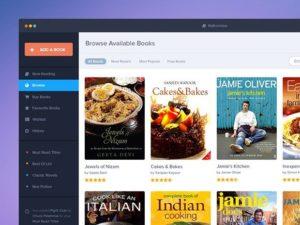Creative Book app template PSD