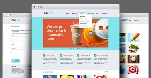 Creative Business Website PSD Templates