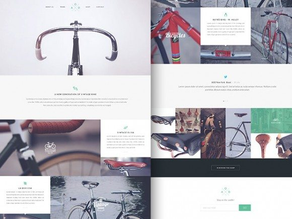 Creative Bicycle ‰ÛÒ Flat one-page template