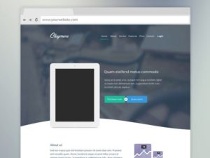 Creative Claymore ‰ÛÒ Landing page for app presentation