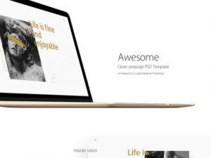 Creative Clean OnePage PSD template