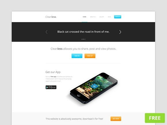 Creative Cleanless PSD website template