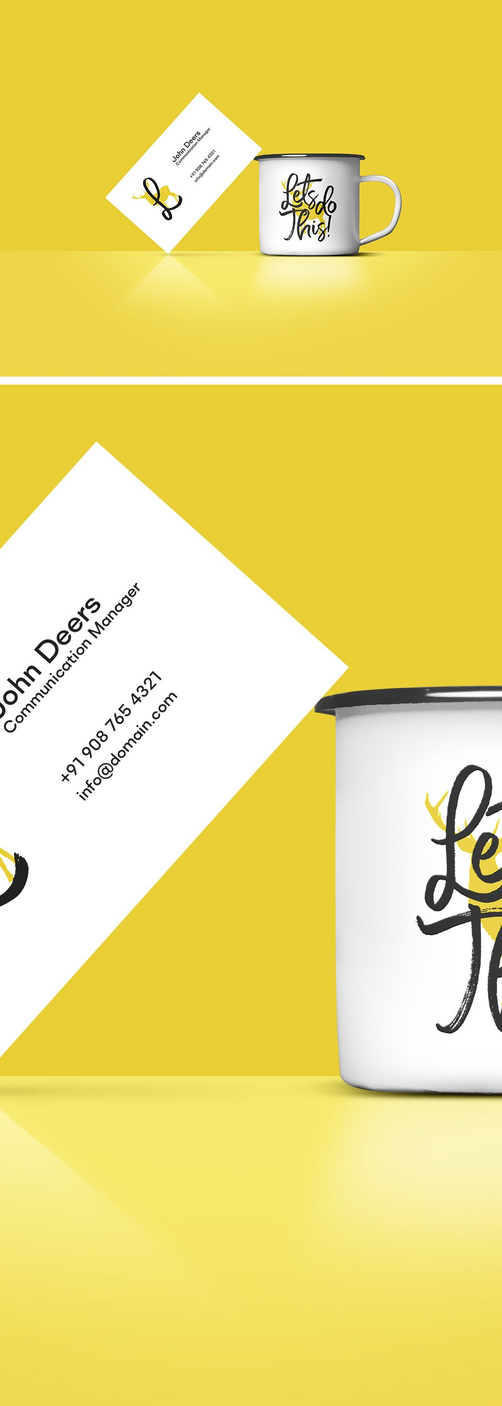 Creative Free Business Card And Coffee Cup Mockup