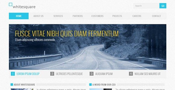 Creative Corporate Blue free PSD website template