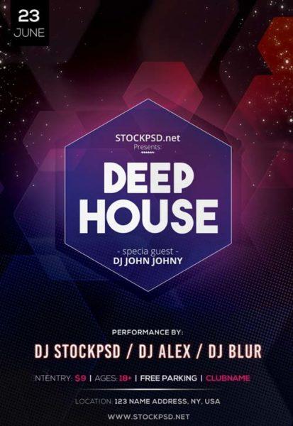 Deep House DJ Event Free PSD Flyer Template