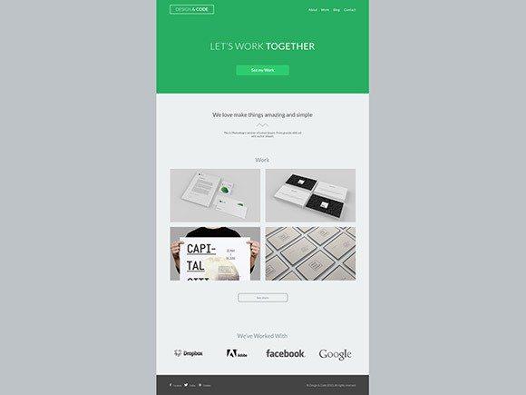 Creative Design&Code portfolio template