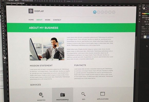 Creative Display PSD website template